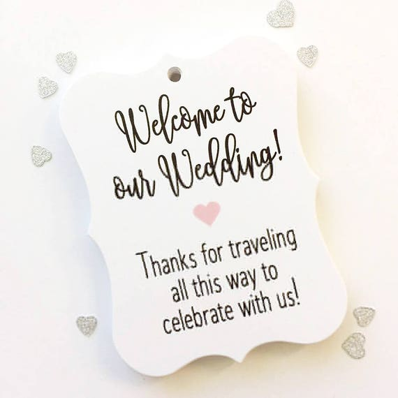 Wedding Tags, Hotel Bag Tags, Welcome Wedding Tags, Custom Favor Tags ...