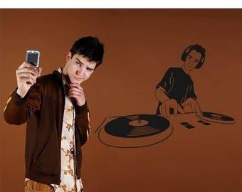 20% OFF Summer Sale DJ wall decal, sticker, mural, vinyl wall art