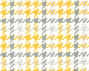 45'' Robert Kaufman Grey/Yellow Cozy Cotton Flannel by the Yard SRKF-14733-5 YELLOW