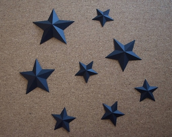 Stars in black relief to your home decor