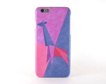 Geometric Giraffe iPhone 7 case, iPhone 7 Plus case, iPhone 6S/6 case, iPhone 6S/6 Plus case, iPhone 5/5S/SE case