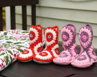 Crochet Baby Boots, Baby Girl Boots, Crocheted Boots, Booties, Baby Gift, Winter Boots