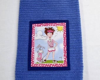 Women's Golf Towel, Loralie Harris Fabric Panel