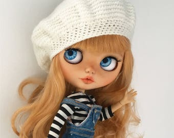 Blythe hat beret knitted clothes custom outfit