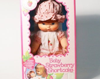 Vtg 1982 Baby Strawberry Shortcake - Blow Kiss Doll - Kenner, NIB