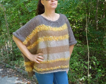 New hand knitted fashion boutique sweater,Handcrafted pullover
