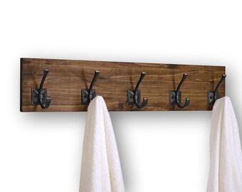 Coat or Bath Towel Rack 5 Hooks