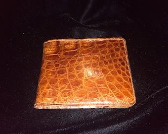 Vintage Unisex Genuine Reptile Wallet in Beautiful Condition!