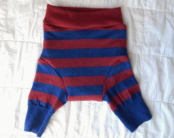 RESERVED for Ashley B - Red/Blue Striped Shorties - LARGE