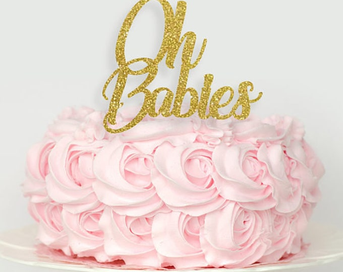 Twins Cake Topper, Oh Babies Cake Topper, Twins baby shower cake topper, baby shower decorations, oh baby cake topper, twin cake topper