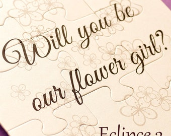 SALE Asking flower girl card Will you be our flower girl gift Be our flower girl wedding invitation