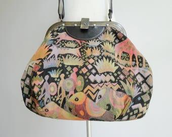 Tapetstry Vintage Vegan Bag // Lovely Colors