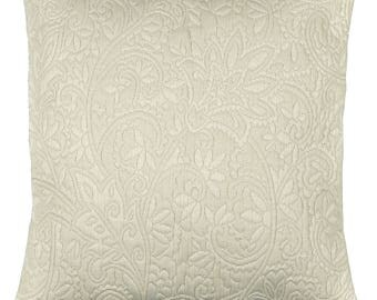 "Cushion + fabric damask ""BEIGE"" 42x42cm removable lining"