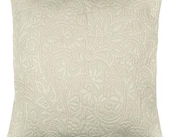 "Cushion + fabric damask ""BEIGE"" 42x42cm removable lining"