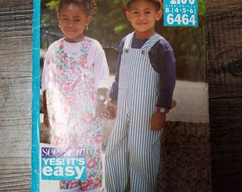 Butterick See & Sew Pattern Child Size 4-6  #6464