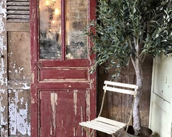 Lovely vintage French mirrored door