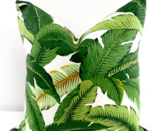 SALE Palm Pillow. Emerald. Island Hopping. Tommy Bahama  Palm Pillow.  Indoor Outdoor Pillow. Sofa pillow cover.  cover Choose your size.