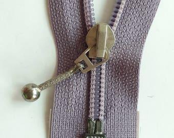 GREY purple nylon 5 vintage zipper divisible size 5 (JO 083) zipper Cremallera cipzár молния, cerniera, fermeture à glissière רוכסן