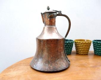 Copper Pitcher, Antique Copper, Copper Ewer, Decorative Pitcher, Turkish Copper Pitcher, Antique Copper Jug, Turkish Copper, Trabzon Jug