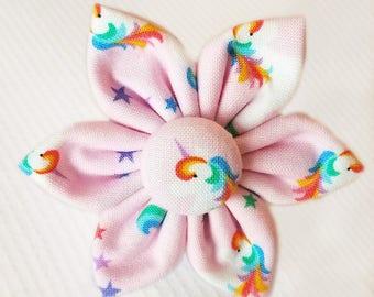 Mini Unicorn Flower for Dog collar, Cat collar, collar flower, pet collar flower, wedding flower, flowers for dog collars