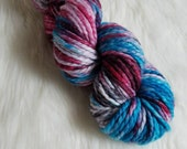 Fortuna, Bulky Weight Yarn, Hand Dyed Yarn( 50 percent Superwash Merino Wool, 50 percent Nylon)