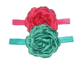 Chiffon Flower Headband, Flower Headband, Photography Prop, Newborn Headband, Baby Headband
