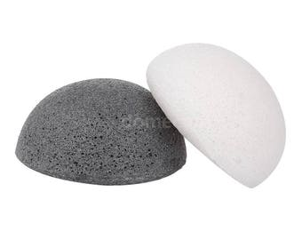 2 X Konjac Sponge Many Colors - Vegan , Natural facial Cleansing Sponge Plant Based