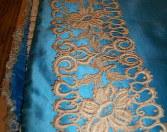 1800s antique lace /inset hand done venise