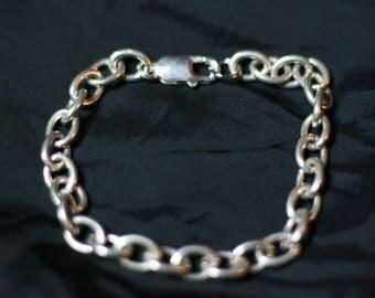 """8"""" Big link Sterling Silver Bracelet"""