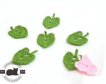 Tutorial Crochet Pattern, Linden Tree Leaf, Crochet Leaf Pattern, Crochet Applique Pattern, Crochet Leaves, Instant Download /5001/