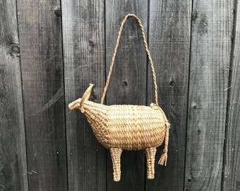 Water Buffalo Basket Weave Art ~ Home Accessory Decor