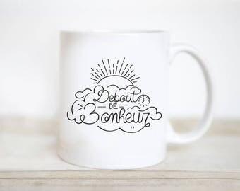 Standing happiness mug