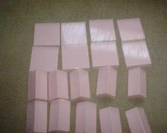Vintage Sytlon plastic tbathrrom tiles pink 8 squares 10 corner tiles