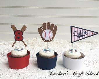 Baseball Cupcake Toppers
