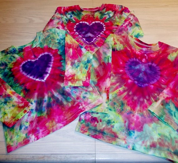 Ice-Dyed tie dyed Toddler Shirts