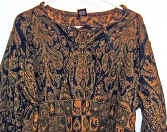 Vintage Nepal Top  Surfer  Burning Man Boho   Hip