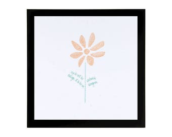 Daisy Art Print with Quote