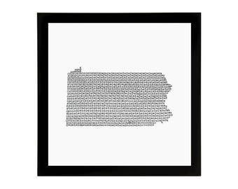 Pennsylvania State Love Art Print