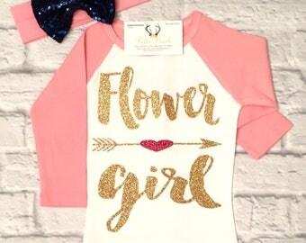 Wedding Apparel, Wedding Party Apparel, Flower Girl Shirts, Flower Girl Tops, Flower Girl Raglan Shirts, Flower Girl Gifts, Wedding Party