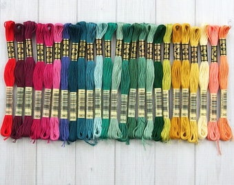 DMC Floss, Colors 3801-3825, 6-Strand Cotton Thread for Embroidery, Cross Stitch and Needle Arts