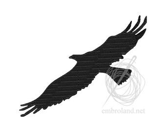 Bird Buzzard Hawk - Machine Embroidery Design - Instant Download - Four sizes