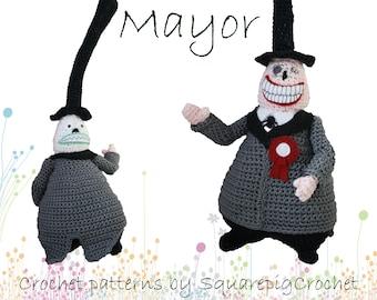 Crochet pattern Mayor (The Nightmare before Christmas)