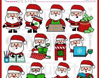 Christmas Santa clipart, Santa clipart, Christmas clipart, Planner Clipart, Winter Clipart, instant download