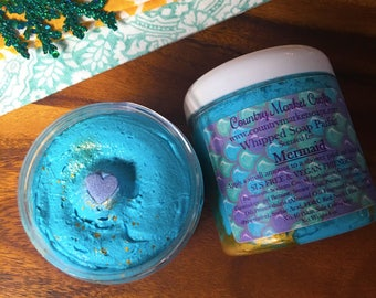 Mermaid Whipped Soap Parfait - Body Frosting Stocking Stuffer Christmas Gifts
