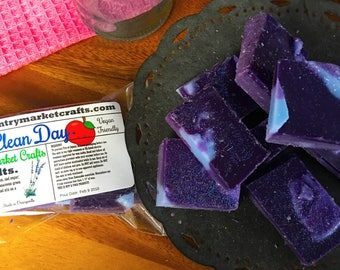 Clean Day - Lavender Apple -  Wax Melts Wax Chunks Wax Brittle Handmade Soy Vegan Highly Scented Wax Tarts -Wax Melt- Valentines Day Gift