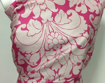 Pink Taffeta jacquard pattern produces beautiful soft and colorful weaving 3metres