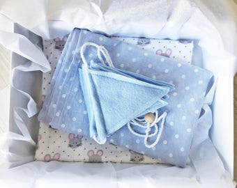 Newborn Baby Gift Box - Muslin Swaddle - Flannel Swaddle  - Bunting - Baby Gift Box