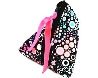 """Gift-wrapped in imitation and """"Milky pastel"""" fabric purse"""