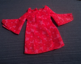 Vintage Mattel Barbie Clothes 1969 Talking PJ MOD Dress #1113