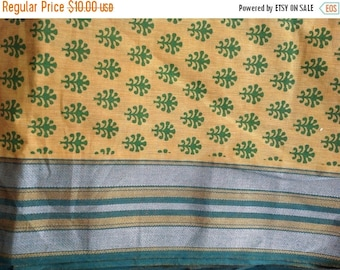 ON SALE Floral fabric Indian cotton Homespun fabric Discount fabric by the yard